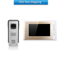 alloy aluminum door - Gold and silver V70C M3 villa video door phone CMOS camera Aluminum alloy quot color screen and color night vision