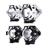 Turn Signals Honda 10 cm 2PCS 125W Motorcycle LED Headlight 3000LM U5 Transform Spotlight Motorcycle Waterproof Driving Fog Spot Head Light Lamp