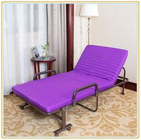 Wholesale Portable Folded Bed with Mattress cm Violet Color