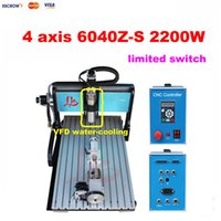Wholesale 2 KW spindle Axis CNC Milling Machine CNC Router engraving lathe with Limit Switch for metal stone glass wood