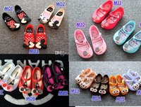 Wholesale Mini Melissa Shoes Summer girls Sandals Clogs Cute Girls Children Mitch Baby Shoes For Girl shoes size EU24