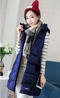 Wholesale 2016 new winter jacket cotton vest woman jacket in the long hooded vest vest size Korean coat