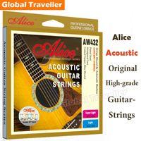 Wholesale 1 box strings Plated Steel Hexagonal Core Anti Rust Super Light Original High grade Acoustic Guitar Strings AW432