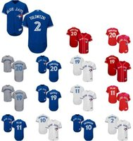 Wholesale 2017 Majestic Official Cool Base Stitched baseball jerseys th Season Toronto Blue Jays Pillar White BLue Red Gray Jerseys Mix Order