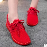 Wholesale Europe and the United States explosion paragraph sports shoes female Beckham with popcorn red shoes