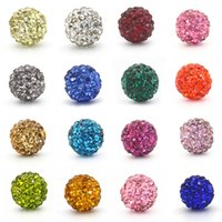 Wholesale 100pcs DIY Beads Crystal Shamballa Micro Pave Disco Ball Bead Spacer Jewelry Making Material MM MM Row color