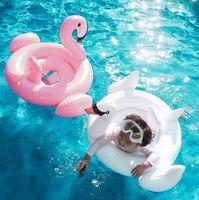 Beach Toys beach seating - Baby Swimming Ring Inflatable Flamingos Swan Seat Boat Water Swim Ring Pool Swiming Float Swimming Pool Beach Toys KKA1403