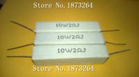 Wholesale Freeshipping W2RJ ceramic cement resistors cement resistance W2 lead watts ohm load resistor