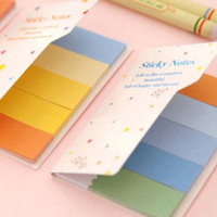 Wholesale 10 sets DIY Colorful Cute Memo Pad Sticky Note Paper Sticker Pads Post It Note Creative School Stationery Material Escolar