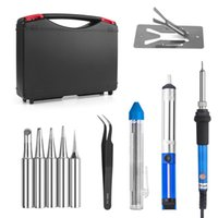 Wholesale 60W Adjustable Temperature Welding Soldering Iron Kit with Tool Carry Case Solder Wire