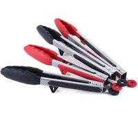 Wholesale Kitchen Food Tong Set Stainless Steel Durable Red Silicone Kitchen Food Tongs Pack Inch Inch for BBQ Cooking Cake Ice Vegetable