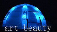 advertising covers - 6 legs white event dome inflatable tent for advertising with removable cover colorful LED lights and Logo