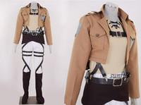 Compra Traje de cuero completo-Ataque a Titán Shingeki no Kyojin Eren Jaeger cosplay cosplay de cuero conjunto completo