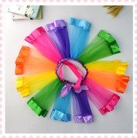 Wholesale 2017 new skirts explosion spell color gauze skirt dance Tutu rainbow princess dress skirt Factory