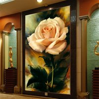 Wholesale Floral Paintings Custom wall paper roll papel de parede d Home Decoration mural wallpaper for living room bedroom TV backdrop