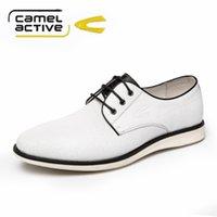 active dress shoes - Camel active Genuine Leather Men Dress Shoes Lace up Business Men Shoes Fashion Men Oxford Breathable Men Flats