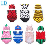 baby red overalls - IDGIRL Baby Summer Bodysuits Baby Girls Boys Costumes Newborn Jumpsuit Overalls One Piece Clothes With Hat JY0218