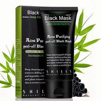 Wholesale 50ml SHILLS Deep Cleansing Purifying Peel Off Black Mud Facail Face Mask Remove Blackhead Facial Mask Smooth Skin Shill Free DHL