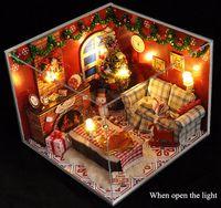 Wholesale DIY Christmas House DIY present Assembled toy