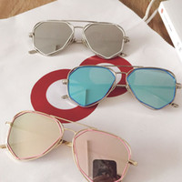 Beach cool kids accessories - Korean Spring Autumn Children Sunglasses Round Fashion girls boys glasses Cool baby Colorful ultraviolet proof kids accessories Lovekiss A48