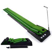 al por mayor accesorios de columpios-De Buena Calidad Golf Putting Green Entrenador Professional Indoor Practice Set Golf Putter Swing Mat Accesorios de entrenamiento de golf MD0154