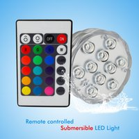 Wholesale Led RGB Submersible Led Underwater Light Battery Operated IP68 Waterproof Lamp for Swimming Pool Wedding Party Celebration