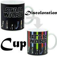 Wholesale 2017 Star Wars Lightsaber Heat Reveal Mug color change coffee cup sensitive morphing mugs