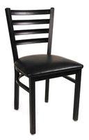 Wholesale Metal Ladderback Side Chair w Vinyl Seat Restaurant Furniture