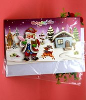 Wholesale 3D Christmas Blessing Greeting Card Creative Aesthetic Children Blessing Card Xmas Festive Event Party Supplies Three Dimensional Pattern