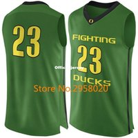 Personnalisé à la baisse # 23 Yellow Green Oregon Fighting Ducks College Basketball Jersey Broderie Stitched Any Name and Number