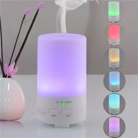 Wholesale NEW ML Mini USB Car Essential Oil Purifier Diffuser Ultrasonic Air Humidifier with Timer Settings Colors Changing Light