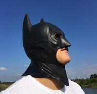 batman cowl - Halloween cosplay batman latex full face Mask adult Party Christmas fancy dress costume superhero Knight mask COWL Festive supplies gift