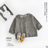 baby doll style clothing - Girls T shirt spring korean style baby girls printing doll collar princess pullover toddle kids cotton All match clothes T0799