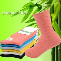anti bacterial socks - Hot Sales Summer Women New Bamboo Fibre Pure Color Socks Cotton anti bacterial anti odor middle length socks For women