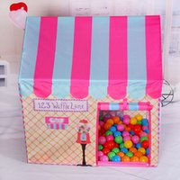 Wholesale Girls Toy Tent Ball Pit Pool Kid Cute Castle for Outdoor Indoor Sports Game