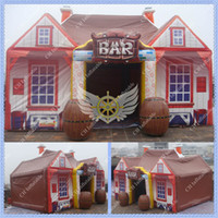Wholesale Commecial Use ft m Inflatable Bar Tent PVC Coated Fabric Tarpaulin Inflatable Pub for Events and Party