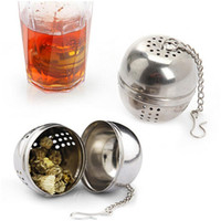 Wholesale Kichen Tea Strainer Stainless Steel Tea Ball Sphere Locking Spice Mesh Infuser Filter for flavoring tea and coffee