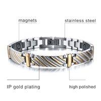 Wholesale IP Gold Plating Bracelet With Unisex Health Element Element Bracelets Bangles With Germanium Charm Jewelry Accessories XG007