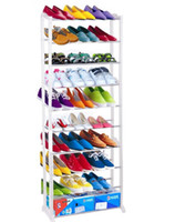 Wholesale 30 Pair Free Standing Tiers Shoe Tower Rack Chrome Metal Shoe Rack Easy l_l