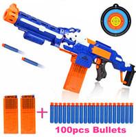 battle gun toys - New Nerf Style Electric Running Fire Sniper Rifle Shoot Soft Sucker Elite Bullet Detachable Rifle Toy Gun Boy Battle Toys
