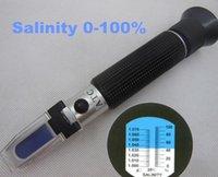30pcs par dhl fedex concentration 0-100% tenu à la main avec ATC pour chlorure de sodium Salinité réfractomètre à saumure outil de test
