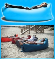 Wholesale Fast Inflatable Sofa Sleeping Bag Outdoor Air Sleep Sofa Couch Portable Sleeping Hangout Lounger Inflate Air Bed cm