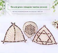 Beverage bamboo triangle - Natural Environmental Protection Pure Manual Bamboo Weaving Triangle Fruit Basket Fruits Basket Dried Food Basket Originality Bamboo Arts An