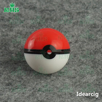 ball jars small - Factory price small ball shape poke ball container Silicone Nonstick Container Food Grade rubber slick Jar for wax bho oil ml
