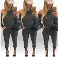 american apparel bodysuit - American Apparel Bodysuit Jumpsuit For Women Long Sleeve Solid Sexy Rompers Plus Size Combinaison Off Shoulder Playsuit Ladies