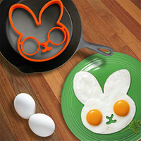 Wholesale Creative Lovely Breakfast Silicone Egg Mould Cooking Tools Rabbit Shape Egg Chocolate Molds