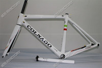 Wholesale 2017 Newest White C60 bicycle frame size cm new carbon frame K weave BB386 BB30 or BB68 adapter