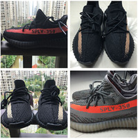 best outdoor light - Authentic version Kanye west boost V2 core black red green copper colorways sply Best quality mens women sports running shoes