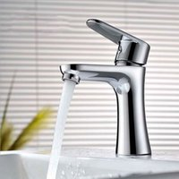 Wholesale Bathroom Faucet Hot And Cold Mixer Basin Faucet Deck Mounted water Tap Brass Sink Faucets Modern Style