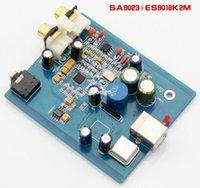 Power Amplifiers audio dac - Freeshipping K GuSS SA9023 ES9023 or SA9023 ES9018K2M fever class audio DAC sound card amplifier board case Bit Khz